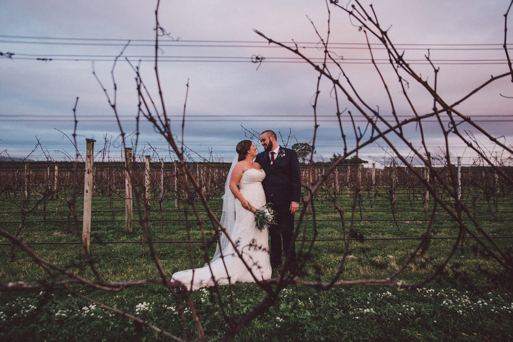 Bride & Groom at Dusk | Astra Bride Kate
