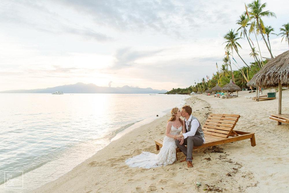 Relaxing on the beach | Astra Bride Krystal