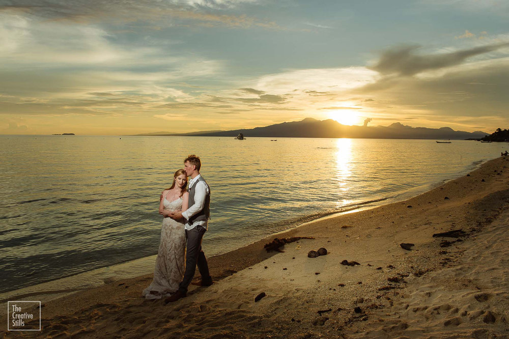 Romantic Tropical Sunset | Astra Bride Krystal