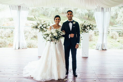 Modern borrowed blue nz wedding inspiration classic black tie bracu wedding junglespirit Images