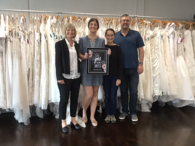 Sarah Hargreaves and her chief advisors helped her say Yes the the dress in our Northshore salon.