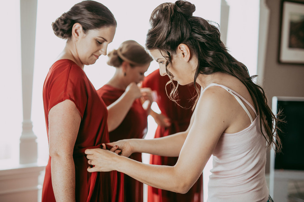 Getting the Bridesmaids read | Astra Bride Sonja