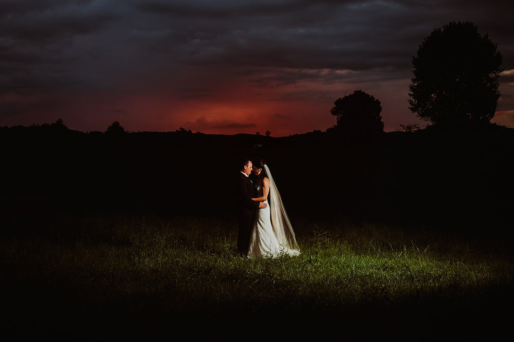 ...and the sun sets on a memorable day - Congratulations Sonja & Cameron