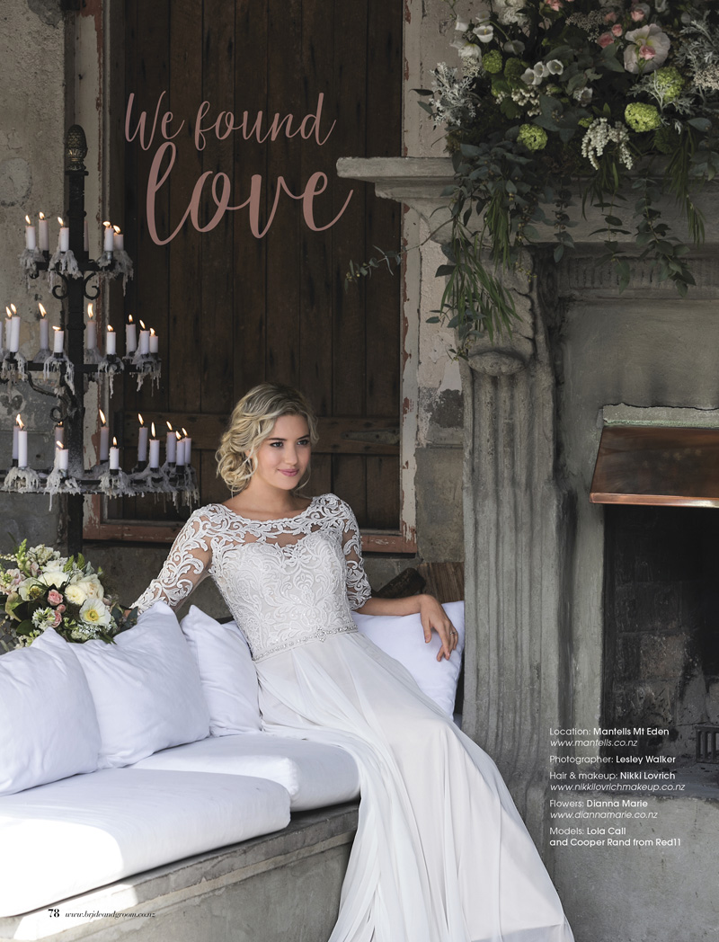Magical, Boho Darcy brings a touch of romance to any venue - This lace & chiffon gown complements the rustic charm of Mantells, Mt. Eden perfectly with its plunging V back and Swarvoski crystal belt.