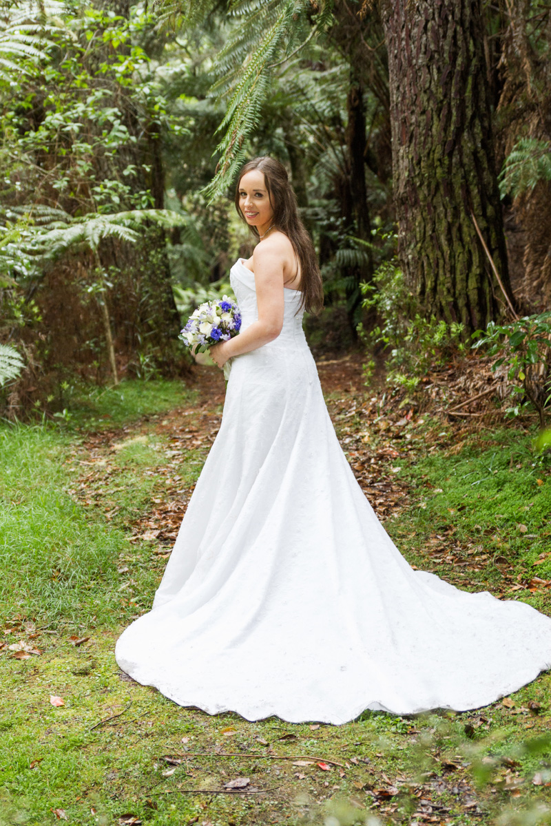 The Gown - Sarah wore the Bonny Essence 8705 gown.