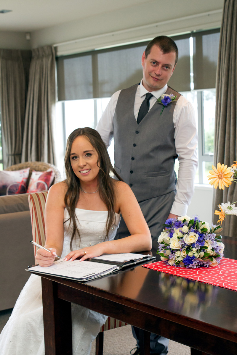 Signing the Register | Bridal Outlet Bride Sarah