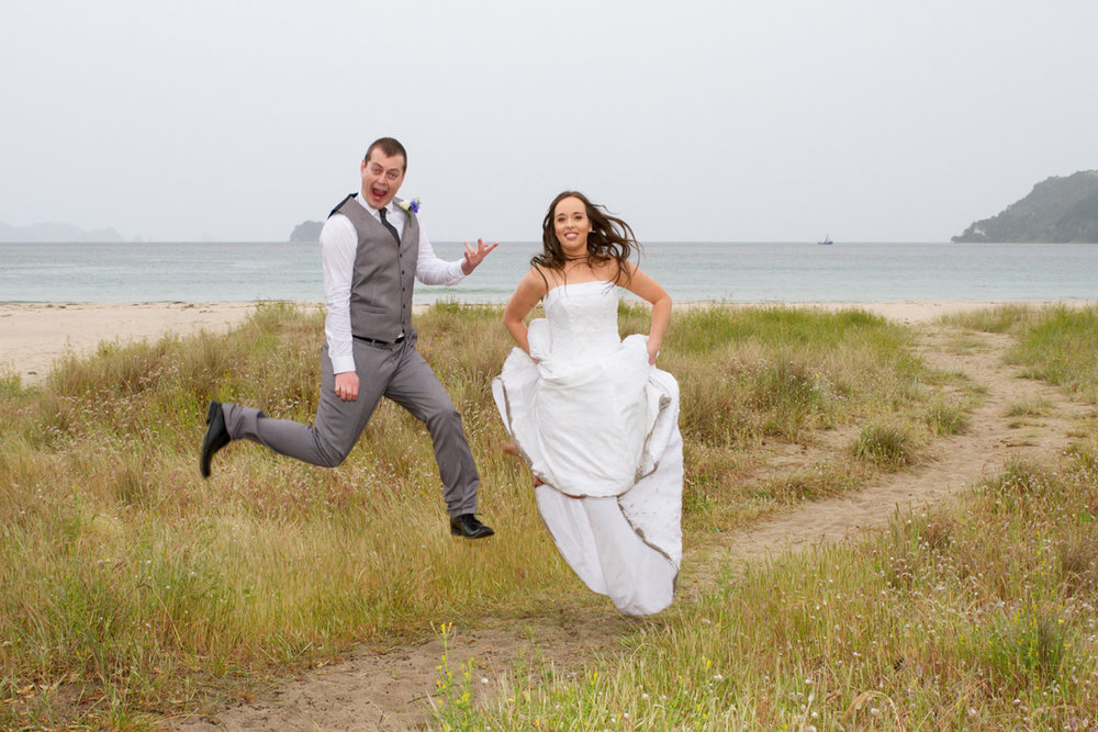 Jumping for Joy - I just love this pic of JP and Sarah expressing their joy at being married!