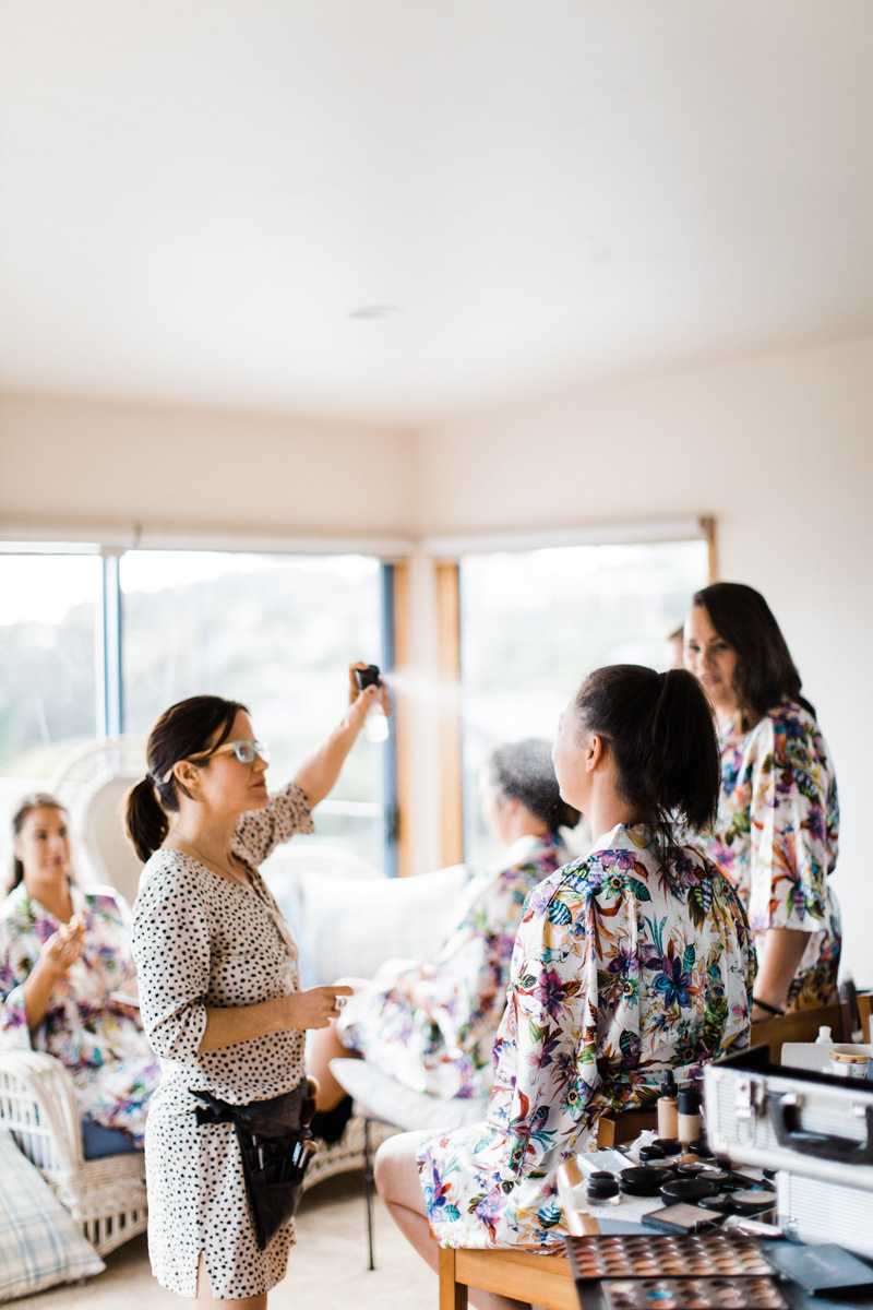 Make-up - Charlotte from Island Beauty in Waiheke, really understood the look we were going for and transformed our bridal party and Mothers to look and feel our best on the day.