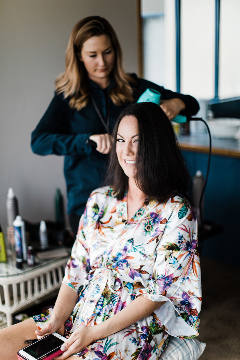 Hair Stylist - Each of the bridal party decided on their own hair style and Hannah Bylo from 'Hair by Hannah' did a beautiful job and was super accommodating for each of us.