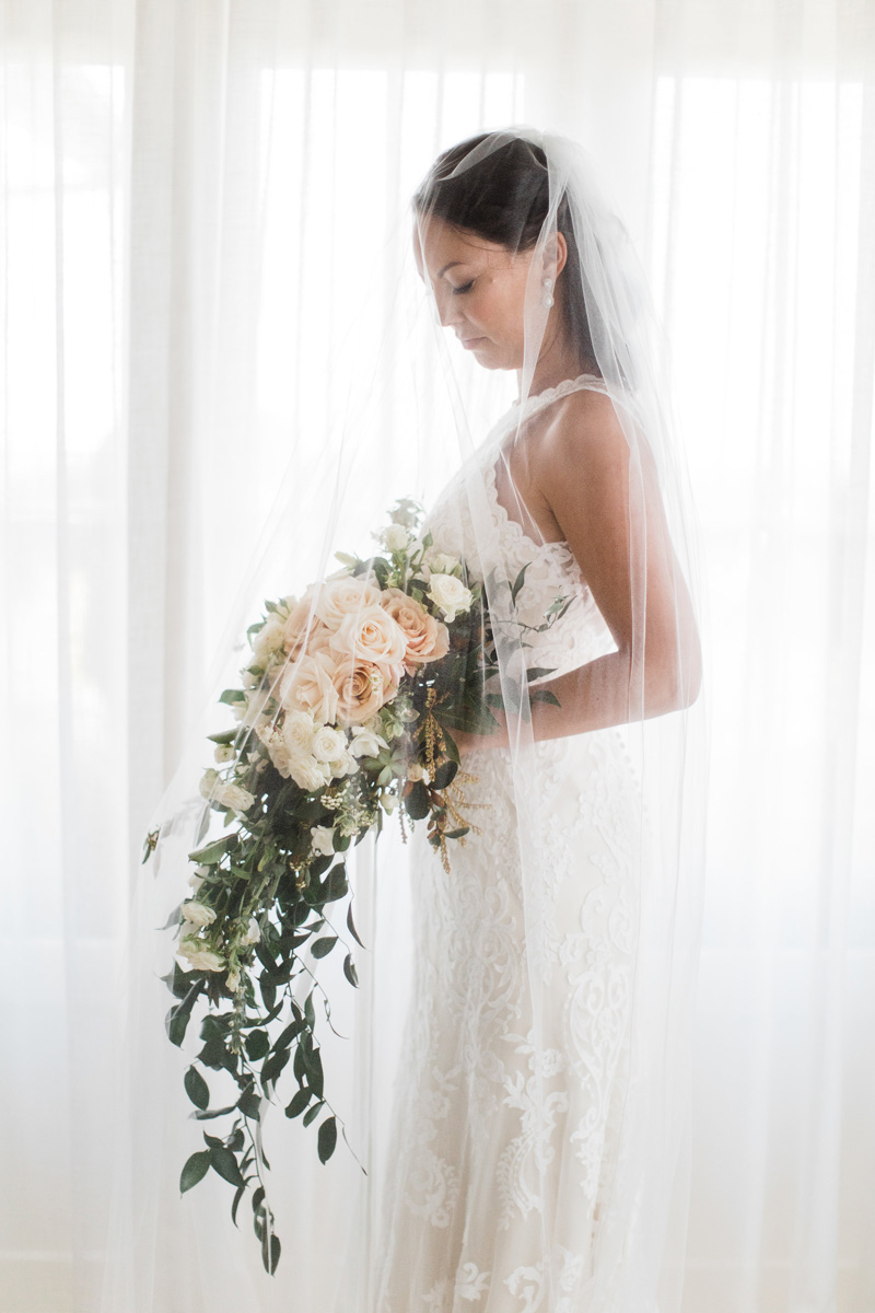 Tara-lee chose the stunning Winifred gown by Maggie sottero which framed her gorgeous figure perfectly. - The Exquisite detailing of the lace and the shape of the neckline are what made me fall in love with this gown...