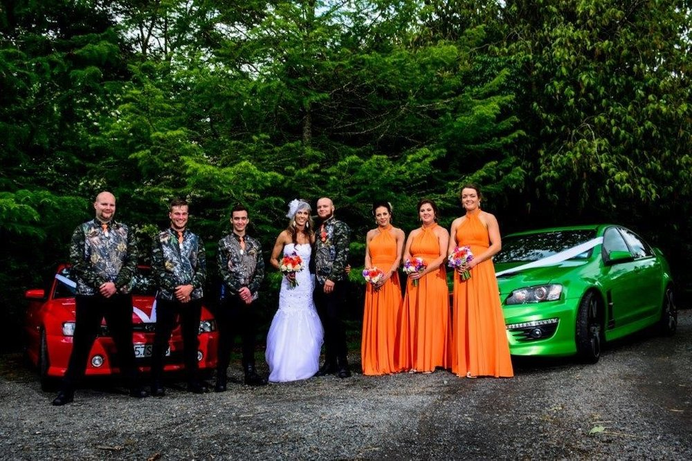 Bold & bright colours - A stand out wedding with a quirky touch of bright colours and camouflage!