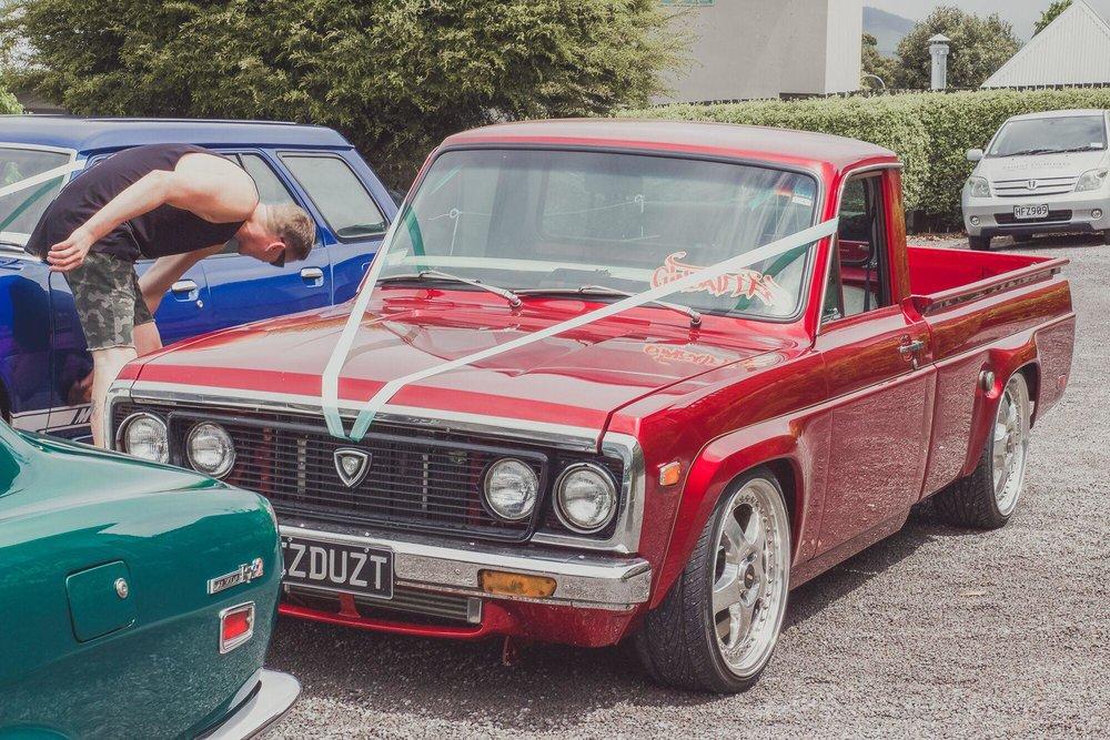 Smart Red Car | Bridal Outlet Bride Kelley