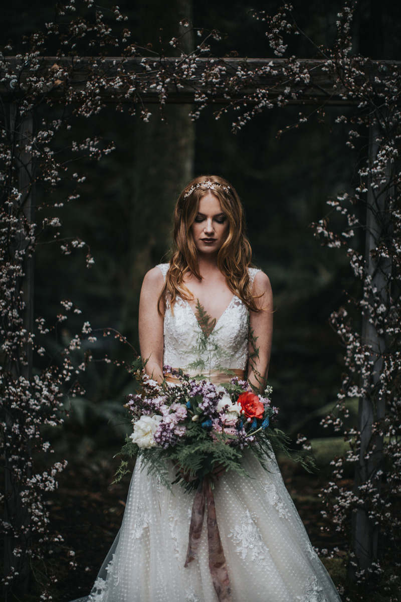 It's hard to top the mystery and magic that lie deep in the woods... We can't help but get swept away in the romance of this captivating shoot created by Rivkah Photography and the team at Blushing Ivy.  -