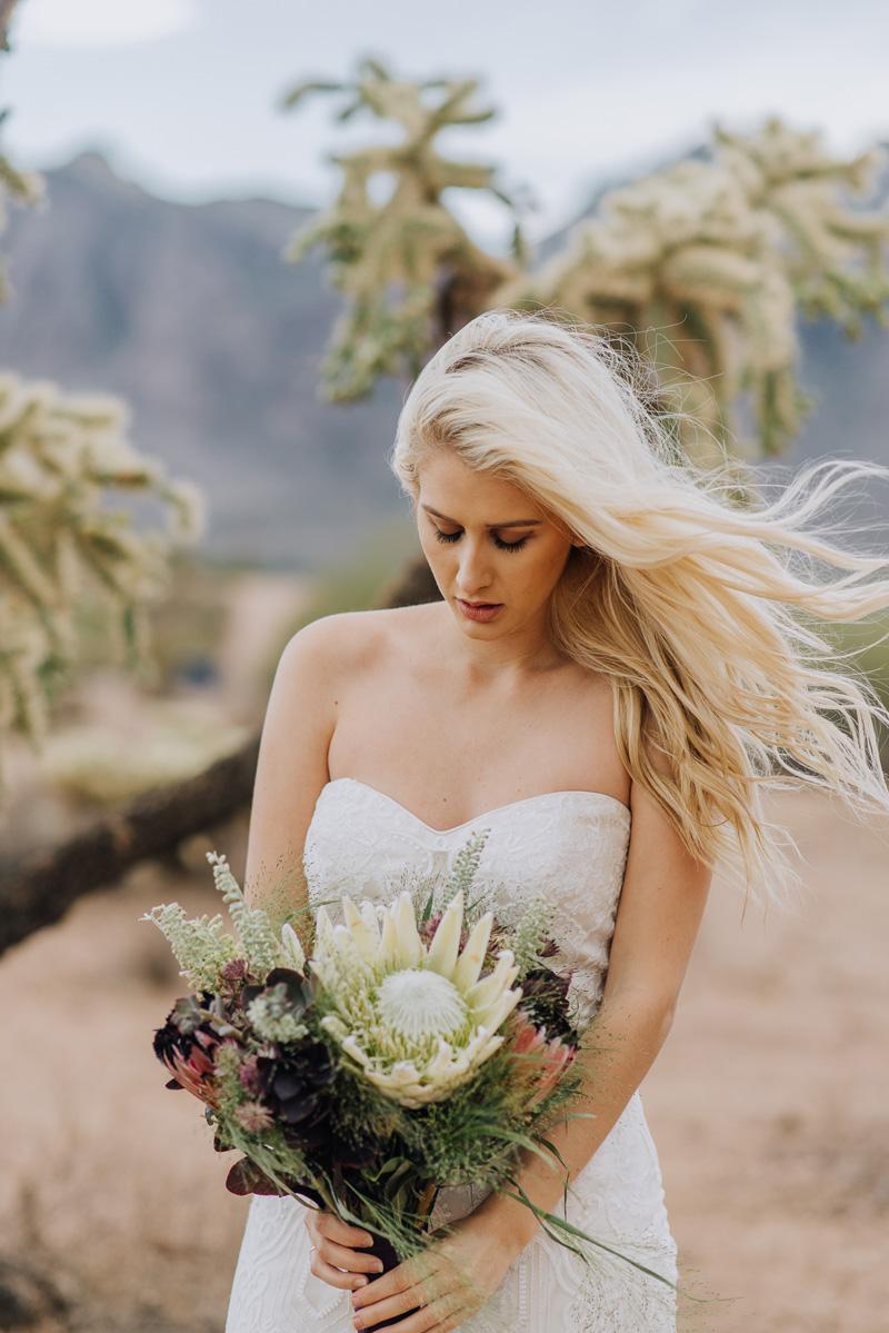Bodice & Flowers | Desert Shoot Fredericka