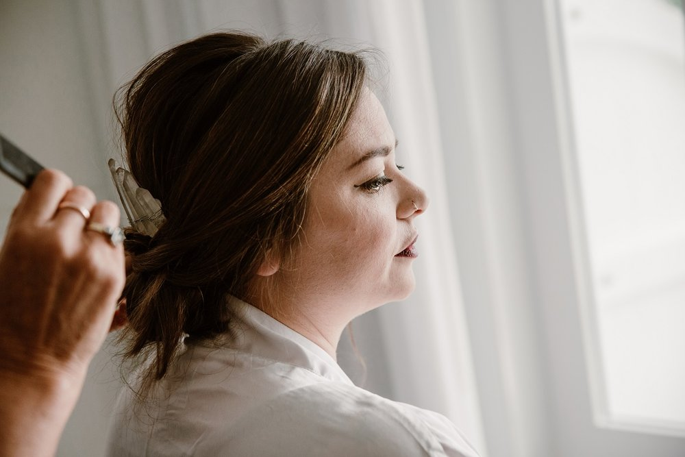 Final touches to the Hair | Astra Bride Jessica