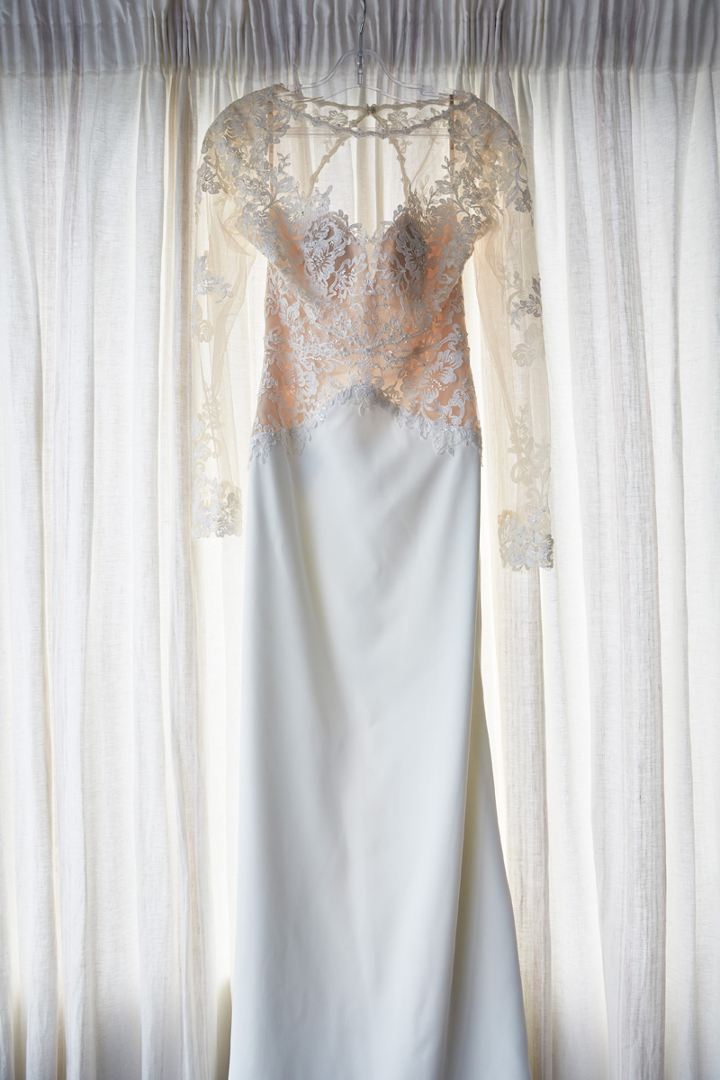 Ivory Lace Sheath Gown | Beach Wedding | Astra Bridal | Maggie Sottero - Blanche | Laura Court Photography