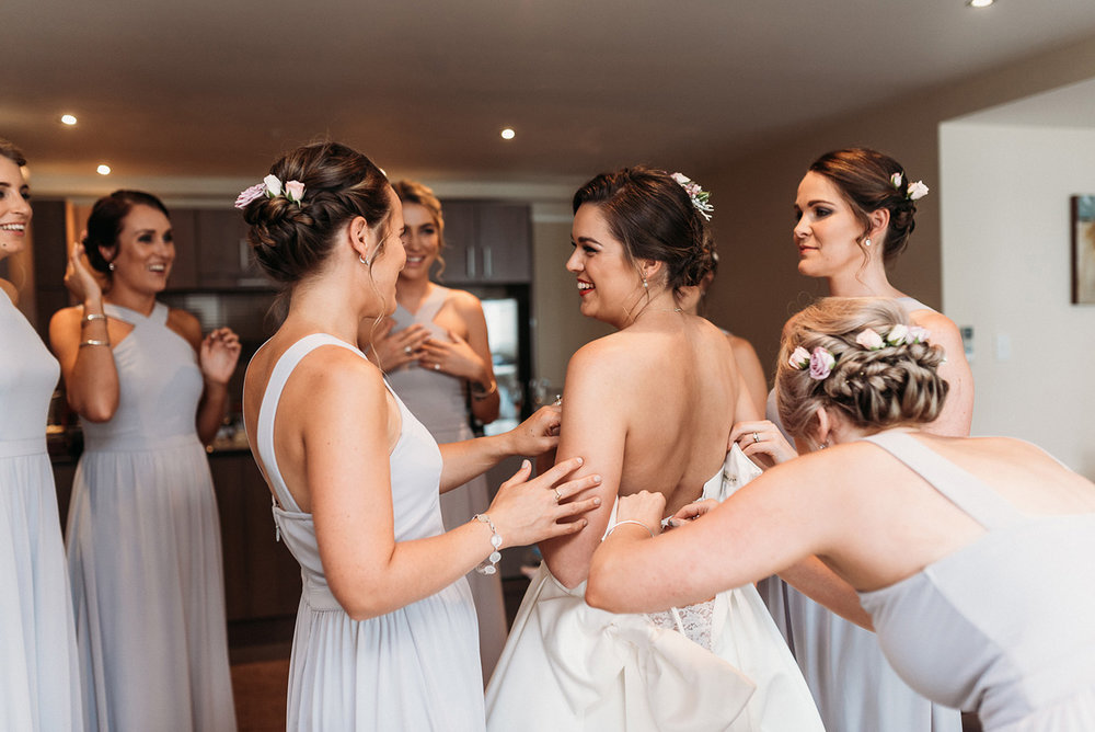 Bridesmaids | Paihia Wedding | Astra Bridal | Maggie Sottero - Taiya | Jess Burges Photography