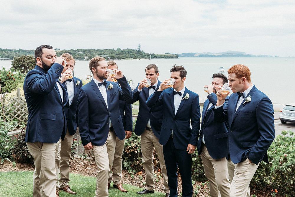 Navy Waist Coat | Rustic Wedding | Astra Bridal | Maggie Sottero - Taiya | Jess Burges Photography