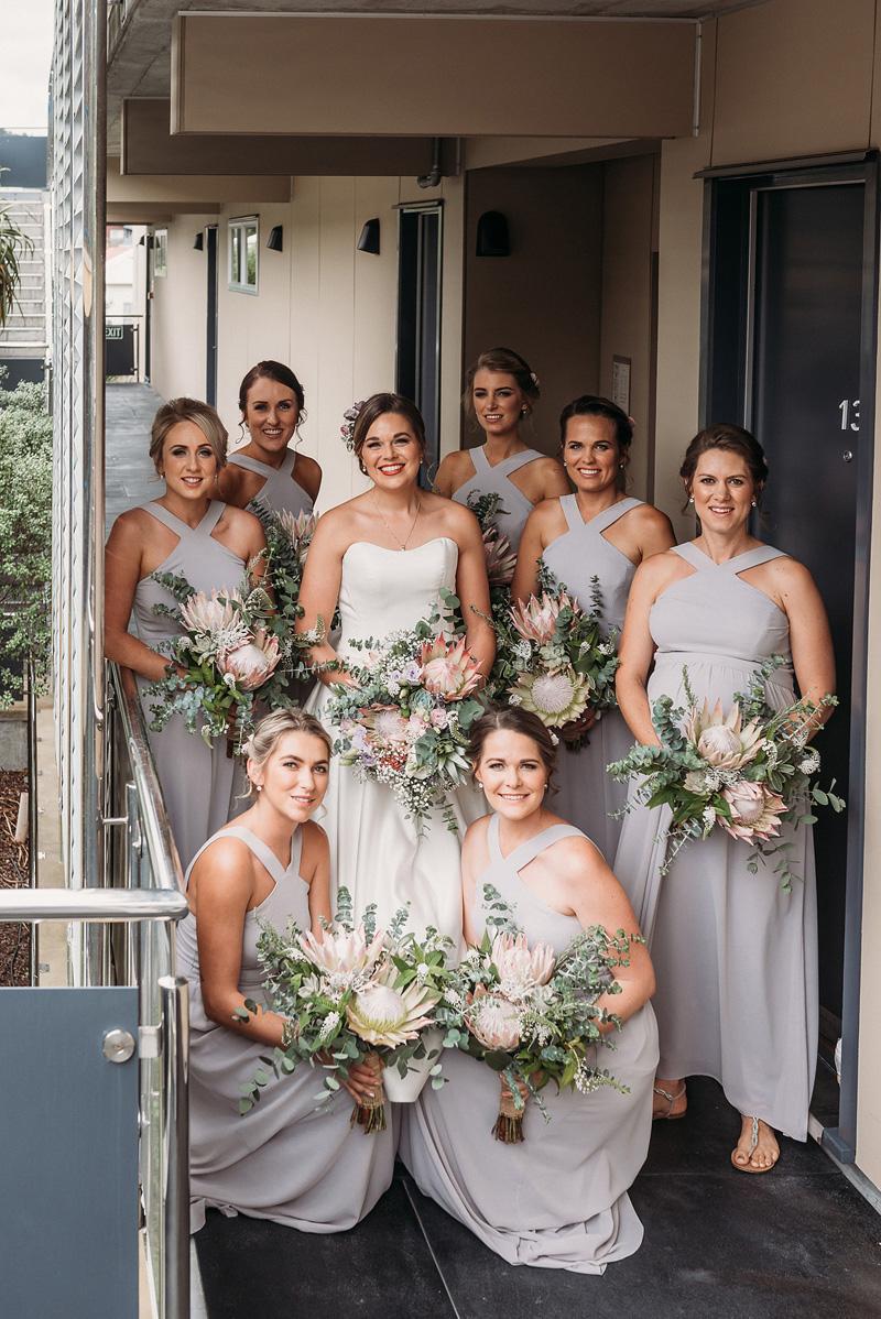 Bridesmaid Flowers | Rustic Wedding | Astra Bridal | Maggie Sottero - Taiya | Jess Burges Photography