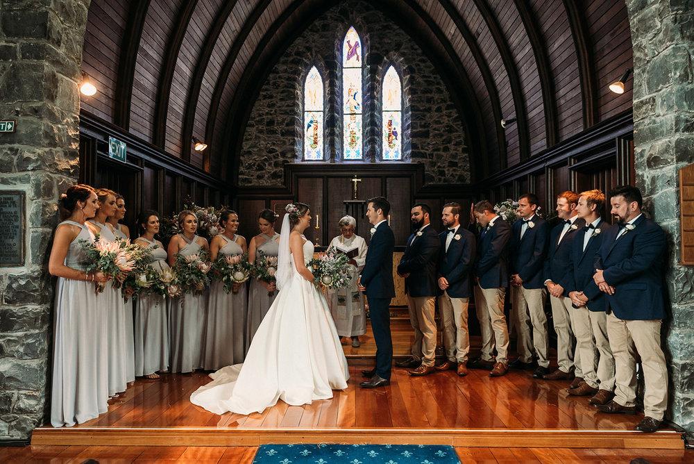 Bridal Party | Rustic Wedding | Astra Bridal | Maggie Sottero - Taiya | Jess Burges Photography