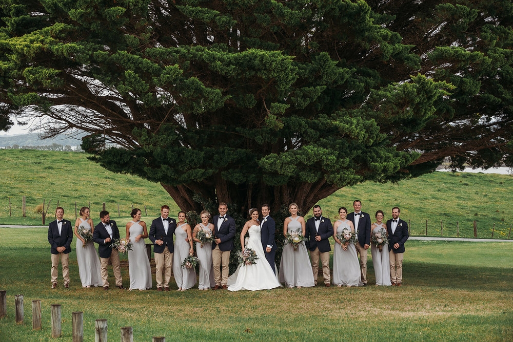 Wedding Party | Rustic Wedding | Astra Bridal | Maggie Sottero - Taiya | Jess Burges Photography