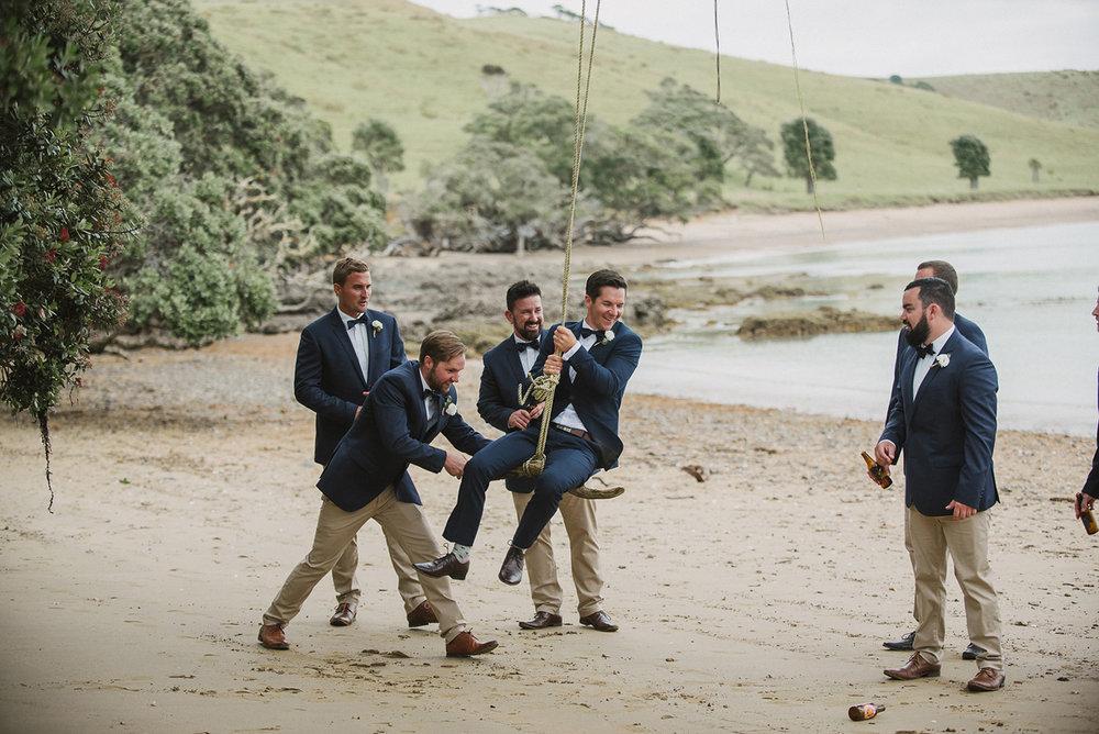 Navy Groomsmen Suits | Rustic Wedding | Astra Bridal | Maggie Sottero - Taiya | Jess Burges Photography