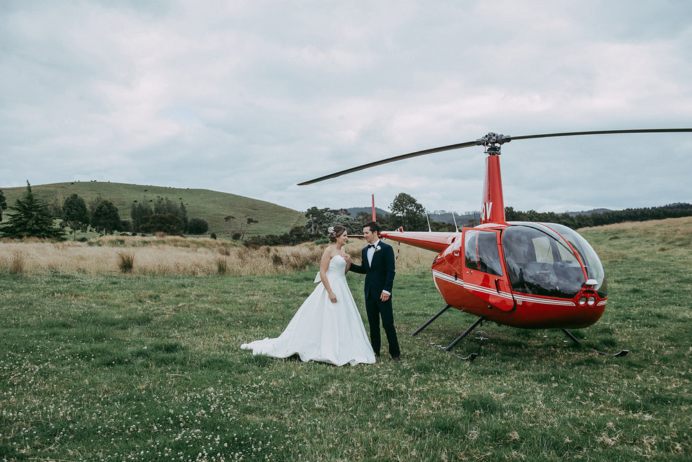 Helicopter Wedding | Rustic Wedding | Astra Bridal | Maggie Sottero - Taiya | Jess Burges Photography