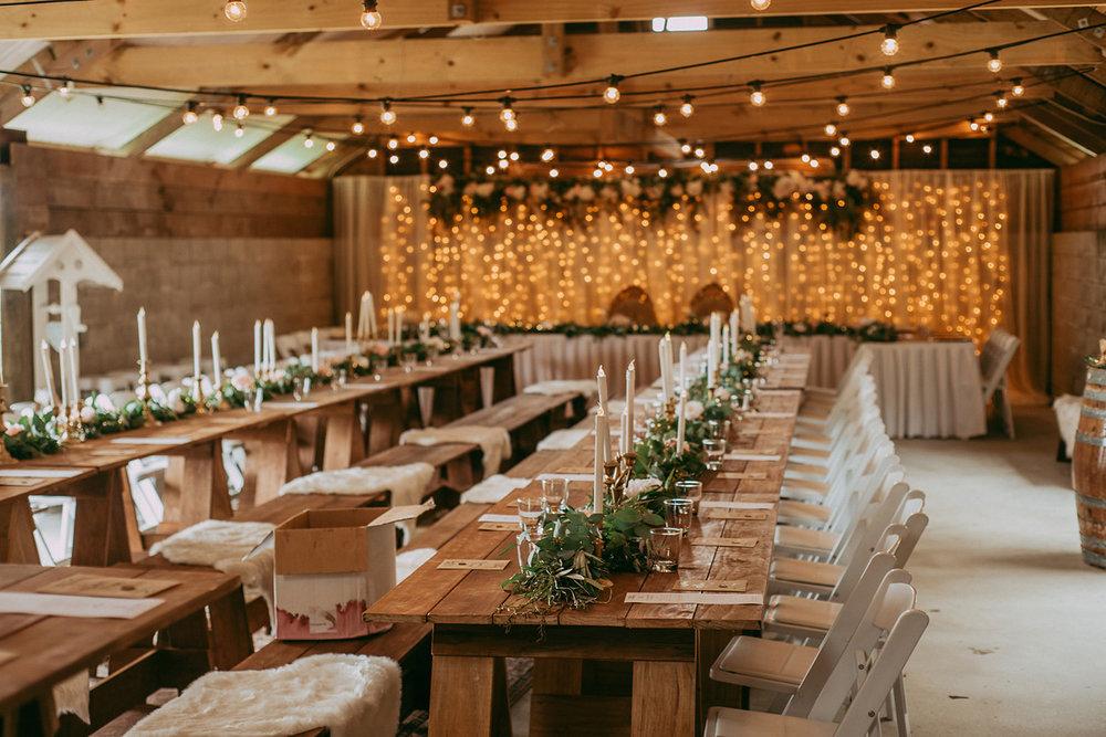 Greenery Centerpiece | Rustic Wedding | Astra Bridal | Maggie Sottero - Taiya | Jess Burges Photography