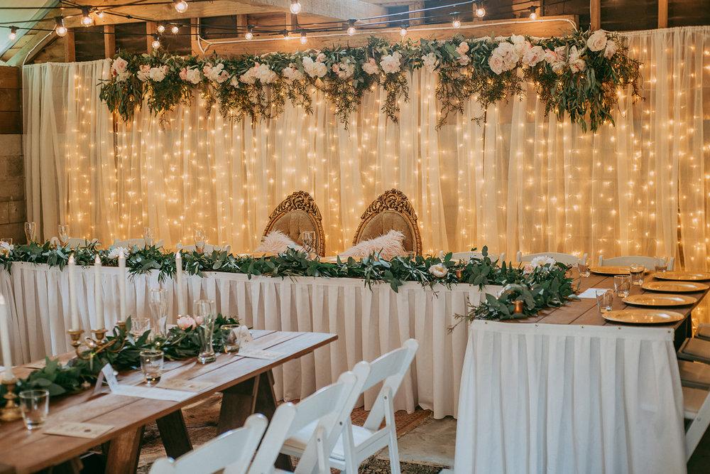 Fairy Lights Reception | Rustic Wedding | Astra Bridal | Maggie Sottero - Taiya | Jess Burges Photography
