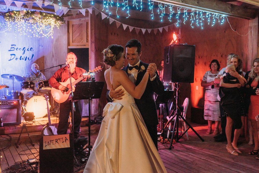 Wedding Dance | Rustic Wedding | Astra Bridal | Maggie Sottero - Taiya | Jess Burges Photography