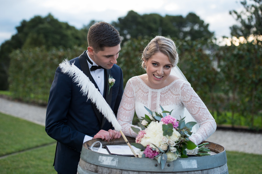 Signing the Register | Astra Bride Sarah