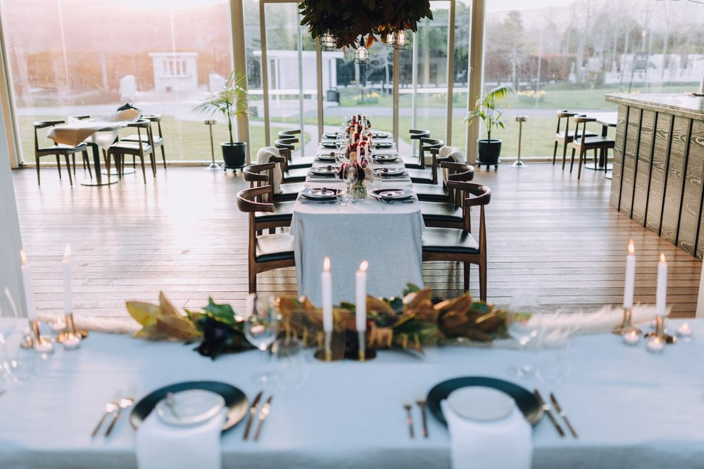 Wedding Table Setting | Astra Bridal | Maggie Sottero Taiya | Sculpture Park | Photography Greg Campbell