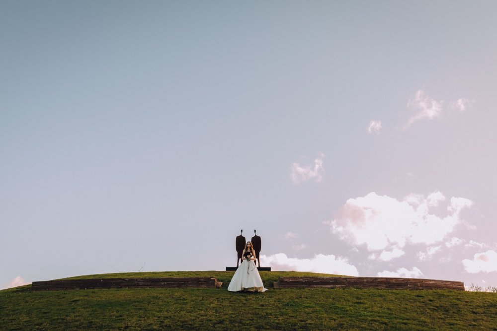 Wedding Photo Ideas   Astra Bridal   Maggie Sottero Taiya   Sculpture Park   Photography Greg Campbell