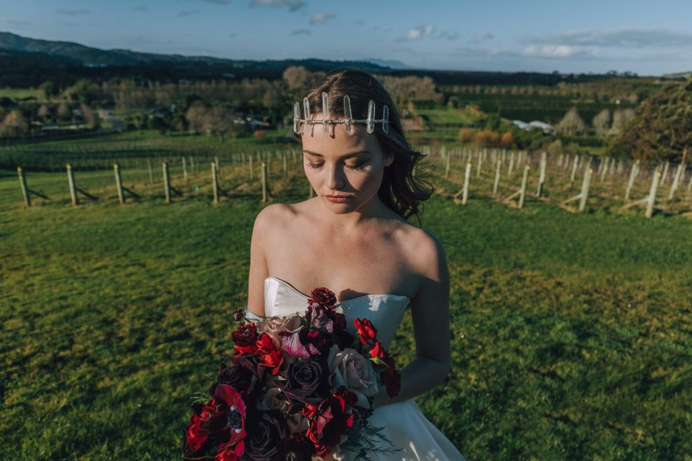 Wedding Florals   Astra Bridal   Maggie Sottero Taiya   Sculpture Park   Photography Greg Campbell