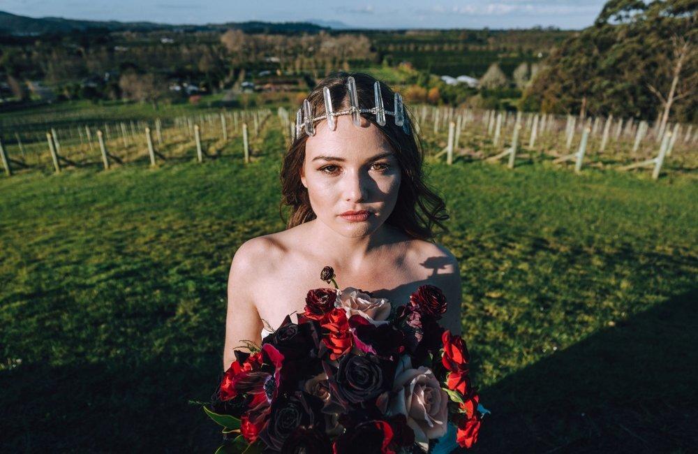 Bridal Tiara   Astra Bridal   Maggie Sottero Taiya   Sculpture Park   Photography Greg Campbell