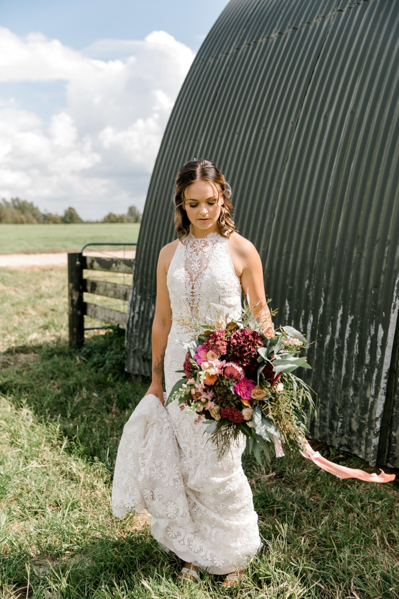 Rustic Bride | Astra Bridal | Sottero & Midgley - Zayn | matamata country blush styled shoot (C) Sweet Events Photography 2018-1064.jpg