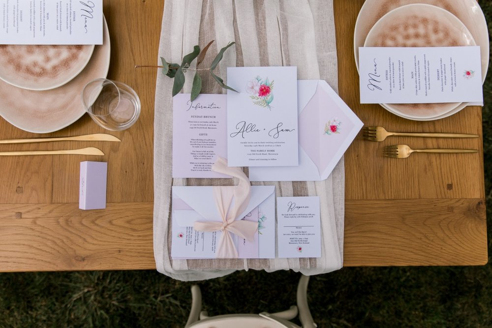 Wedding Stationary | Astra Bridal | Sottero & Midgley - Zayn | The Styled Table | Creative Box | Petal Passion | matamata country blush styled shoot (C) Sweet Events Photography 2018-1064.jpg