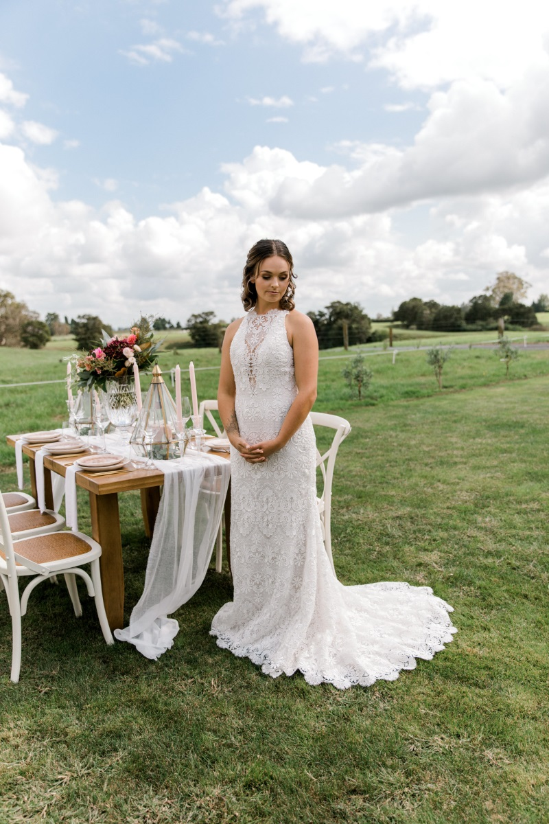 Boho Lace Gown | Astra Bridal | Sottero & Midgley - Zayn | Petal Passion | matamata country blush styled shoot (C) Sweet Events Photography 2018-1064.jpg