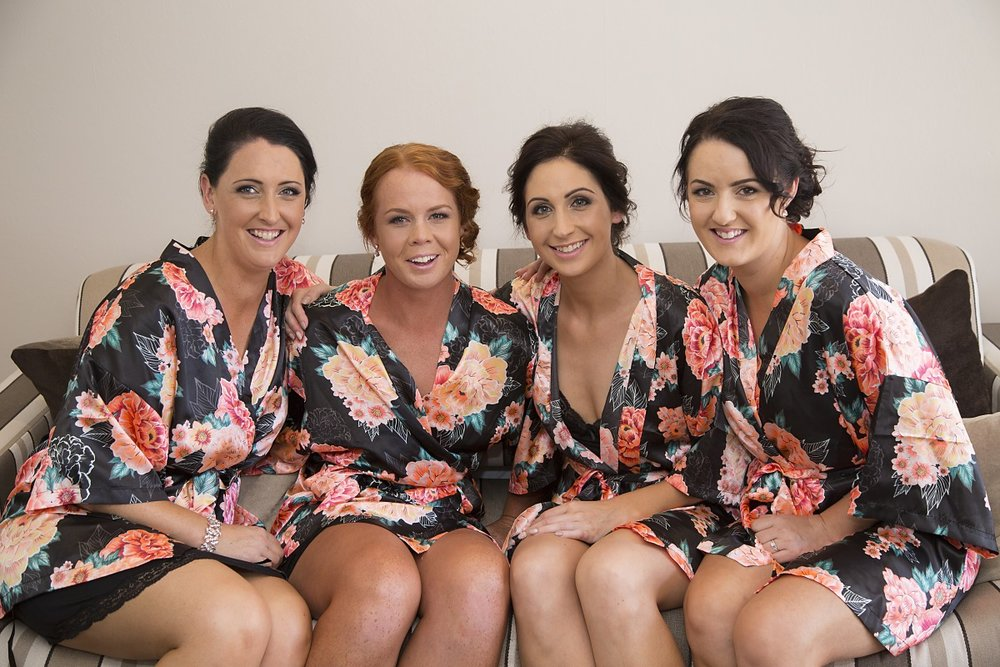 Floral Robes | Bridesmaids Prep | Wharerata Function Centre Wedding | Maggie Sottero – Winifred | Astra Bridal | Fantail Photography
