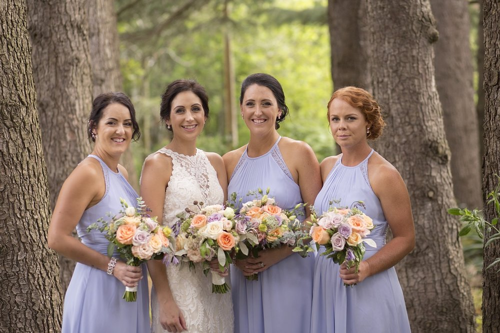 Pastel Blue Bridesmaids | Wharerata Function Centre Wedding | Maggie Sottero – Winifred | Astra Bridal | Fantail Photography