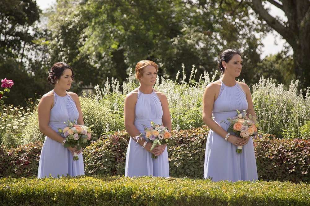 Blue Bridesmaid Dresses| Garden Wedding | Wharerata Function Centre Wedding | Maggie Sottero – Winifred | Astra Bridal | Fantail Photography