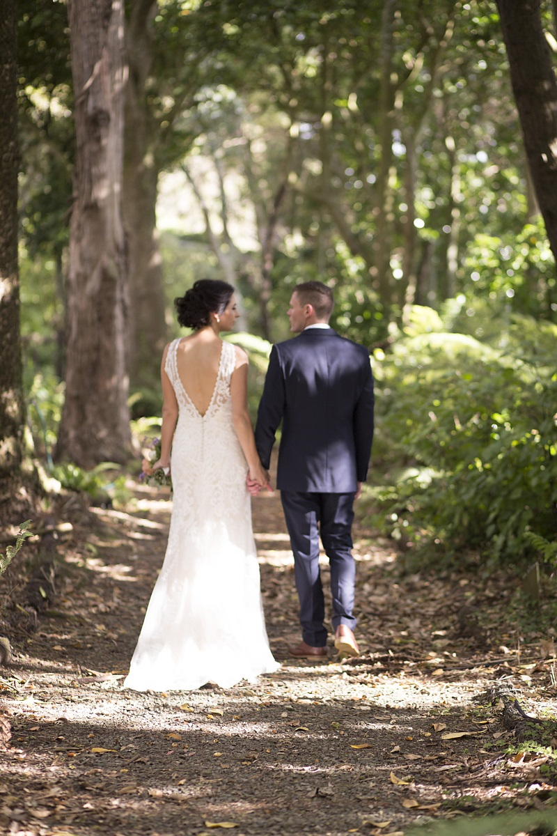 Woodlands Wedding | Lace Wedding Gown | Tuxedo | Wharerata Function Centre Wedding | Maggie Sottero – Winifred | Astra Bridal | Fantail Photography