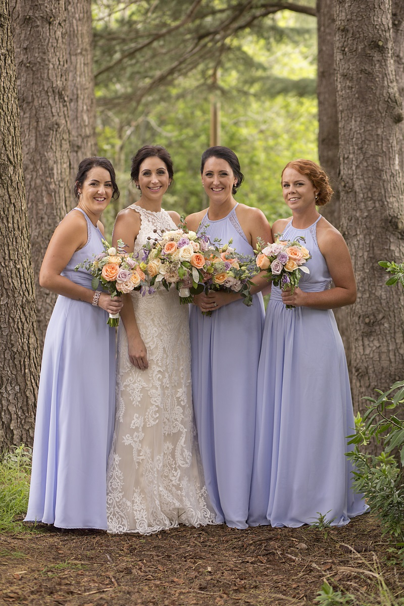 Bridesmaid Bouquets | Wharerata Function Centre Wedding | Maggie Sottero – Winifred | Astra Bridal | Fantail Photography
