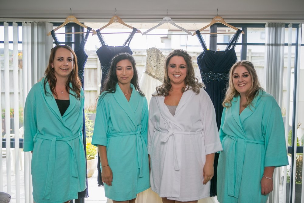 Bridesmaid Robes | Markovina Vineyard Wedding | Astra Bridal | Maggie Sottero Esme | Dreamlife Photography