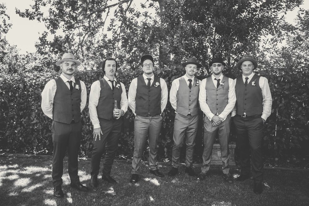 Dapper Groomsmen | Markovina Vineyard Wedding | Astra Bridal | Maggie Sottero Esme | Dreamlife Photography
