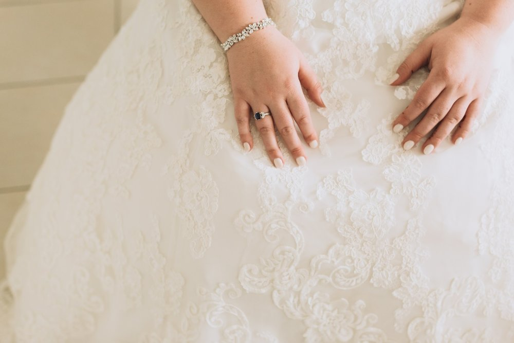 Lace Ball Gown Wedding Dress | Bridal Jewellery | Classic Urban Wedding | Indian Wedding | Bonny 1420 | Astra Bridal | Candy Capco Photography