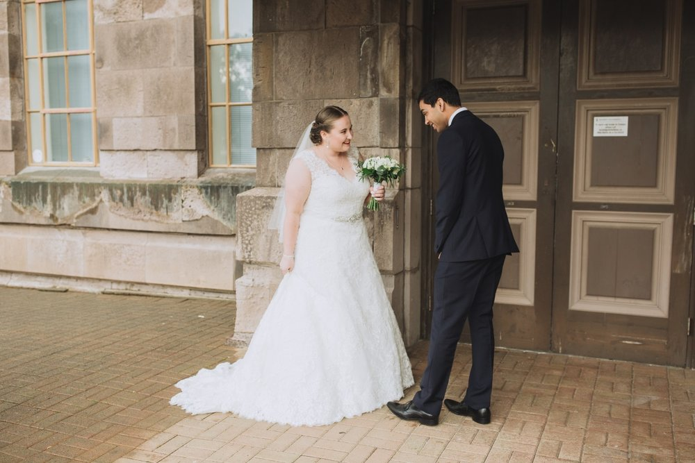 Plus Size Bridal Gown | Navy Suit Groom | Classic Urban Wedding | Indian Wedding | Bonny 1420 | Astra Bridal | Candy Capco Photography