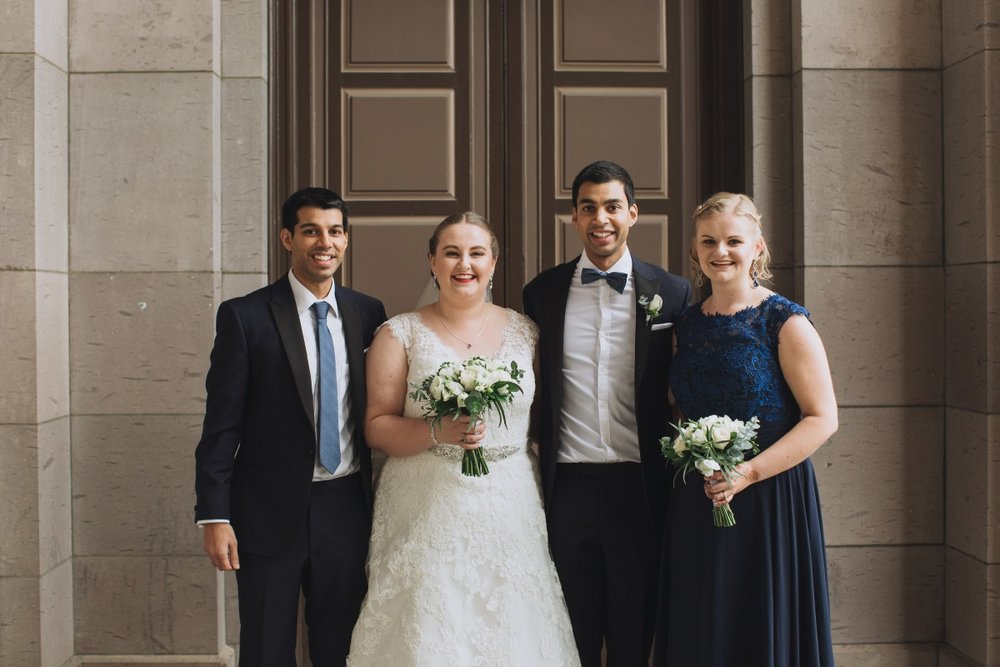 Bridal Party | Classic Urban Wedding | Indian Wedding | Bonny 1420 | Astra Bridal | Candy Capco Photography