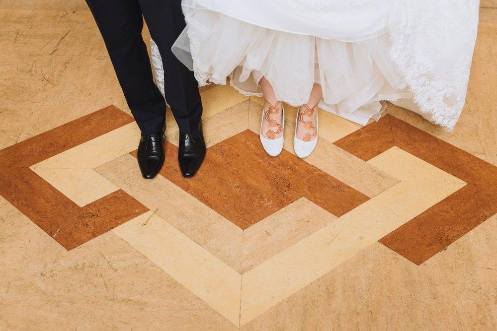 Flat Bridal Slippers | Classic Urban Wedding | Indian Wedding | Bonny 1420 | Astra Bridal | Candy Capco Photography