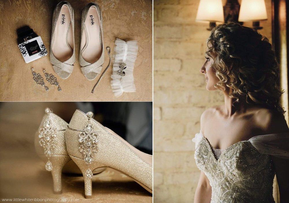Bridal Shoes | Bridal Jewellery | Sweetheart Neckline | Astra Bridal | Maggie Sottero | Avianto Estate | Little White Ribbon Photography
